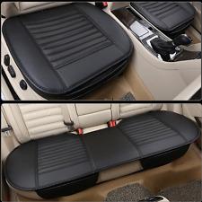 3x Auto Atmungsakt PU Leder Rear Sitzauflage Sitzbezüge Sitzkissen Bambus Kohle