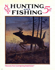 Whitetail Deer Hunting Magazine Poster Art Print Antlers Sheds Bow Arrow MAG29