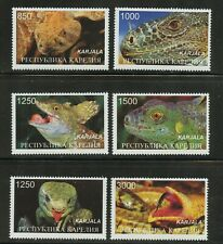 Snakes Fangs Venom Vipers set of 6 mnh stamps Karelia