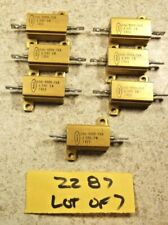 Lot Of 7 Dale 499 Ohm 1 10w Aluminum Power Resistor New