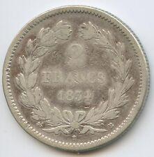 Louis-Philippe (1830-1848) 2 Francs 1834 B Rouen