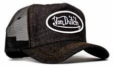 Authentic Brand New Von Dutch Black Denim Cap Hat Mesh Snapback