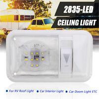 RV Interior Led Ceiling Light Boat Camper Trailer Single Dome 12v 280LM Dimmer -