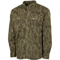 Mossy Oak Cotton Mill 2.0 Long Sleeve Camo Hunting Shirts for Men