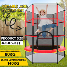 4.5FT Mini Trampoline Set Enclosure with Safety Net Outdoor Indoor Kids Toy Play
