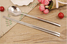Korean Chopstick&Spoon 1Set Stainless Steel Chopsticks High Quality Spoon