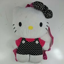 "Hello Kitty Plush Backpack - Sanrio 15"" Cute Zipper Back Pack for Girls"