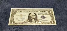 1957 $1 DOLLAR BILL OLD US PAPER MONEY CURRENCY BLUE SEAL NOTE REAL NICE!