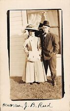 Somewhere In Ohio Mr and Mrs J B Reed posing for picture real photo pc Z16137