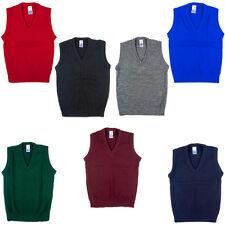 New School Uniform V Neck Tank Top Sleeveless Jumper Pack of 2 Size 2yrs-XL
