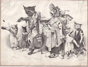 A4A3 FramedUnframed Antique Lithograph from 1916 Hippopotamus Fine Art Print