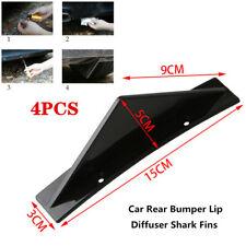 4X Car Triangular Rear Bumper Lip Spoiler Diffuser Shark Anti-collision General