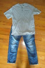 Jack & Jones Jeans Men's 38 x 32 + Duluth Shirt XL short sleeved gray GUC Erik