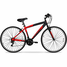 700c Men's HYBRID Road & Mountain Bike Alu Frame Long Ride Bicycle 21 Speed Red