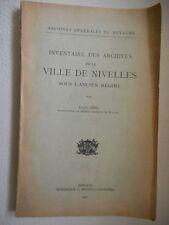 INVENTAIRE DES ARCHIVES DE LA VILLE DE NIVELLES SOUS L'ANCIEN REGIME