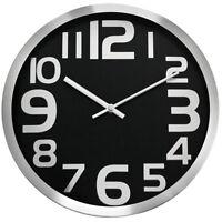 Classic wall clock - CHERMOND - metal case , black dial , no second hand