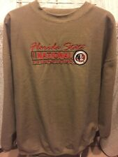 Vintage Florida State Seminoles gold Sweater National Champions 1999