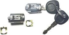 GM Chevy GMC OEM Pair Door Lock Key Cylinders Chrome W/2 GM Logo Keys 7001071