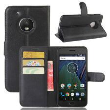 Custodia FLIP cover NERA stand tasche libretto booklet Motorola Moto G5 Plus 5.2