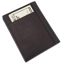 Passport Holder Card Case Bifold RFID Leather Wallet (Black) SD 05