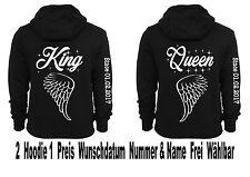 King Reina Sudadera Jersey PARTNER look Parejitas ANGEL ALAS Muchos Colores XS
