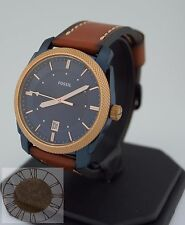 Mens's Fossil Watch, Light Brown Leather Strap Watch FS5266, New