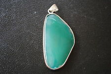 Semi-Precious Agate Necklace Pendants Necklaces 1 Pendant Agate 2in Green