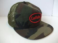 Lufkin Patch Camo Med-Lg Hat Vintage New Era Snapback Trucker Cap Made USA