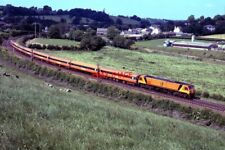 PHOTO  1995 IRISH RAIL 201 CLASS LOCO LEAVING POYNTZPASS RAILWAY STATION AN IRIS