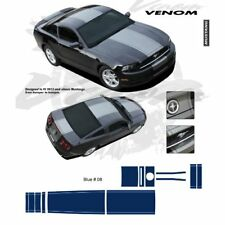 Ford Mustang 2013 up Center Stripes Graphic Kit - Blue