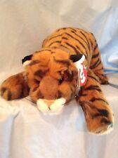 "Ty Classic 1994 Plush 22"" Tygger Soft Stuffed Crouching Bengal Tiger Toy Animal"
