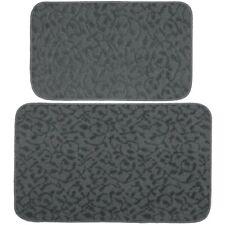 """Porch & Den Helvetia Cinder Grey Ivy Pattern Kitchen/Door Accent Mat - 24"""" x 40"""""""