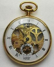 "POCKET WATCH, NEW&MINT, GOLD COLOR ""JEAN PIERRE"", WIND UP. FULLY WORKING"