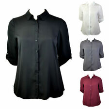 Polyester Classic Tops & Shirts for Women with Buttons