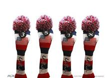 3 5 7 X USA GOLF Driver Headcover Red White Blue KNIT Head Covers Headcovers