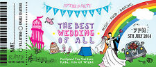 50 Personalised Fun Fair Wedding Fest WedFest Ticket / After party Invitations!
