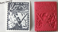 ACEY DEUCY UNMOUNTED RUBBER STAMP LOVE POSTAGE STAMP COLLAGE NEW