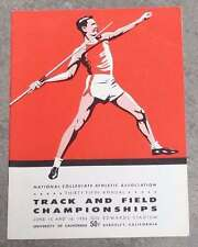 NCAA COLLEGE TRACK and FIELD CHAMPIONSHIPS PROGRAM - 1956 - EX+/NM