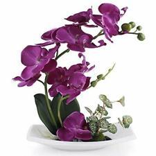 RENATUHOM Fake Flowers Artificial Orichid Purple Flowers Bonsai Fake Orchid