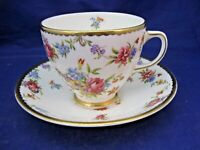 ANTIQUE OLD ROYAL BONE CHINA TEA CUP & SAUCER.   SMALL MIXED FLOWERS  - ENGLAND