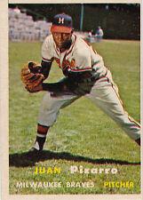 1957 Topps Baseball #383 Juan Pizarro RC ~ Milwaukee Braves ~ EXMT
