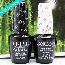 OPI GelColor Soak Off Gel Nail Polish 15ml (0.5 fl oz) Set : 1 BASE + 1 TOP COAT