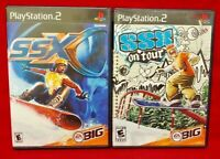 SSX On Tour + SSX 1  -  PS2 Playstation 2 Tested Game Lot - Working!
