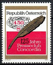 1795 postfrisch Österreich Jahrgang 1984 Presseclub Concordia Schriftfeder