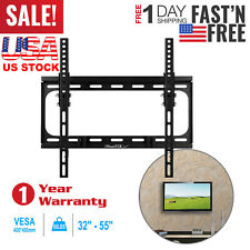 """Tilt TV Wall Mount Stand Bracket 10°Tilt for 32"""" 37"""" 42"""" 50"""" 55"""" LED LCD Plasma"""