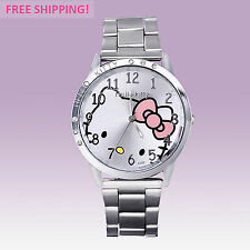 Fashion Design Womens Ladies Girls Hello Kitty Wrist Watch, Stainless Steel