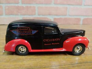 "ERTL JLE#GD-6065 1940 Ford Panel Van Bank ""Lynnwood Cycle Barn"" WA"