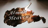 "Almost Heaven West Virginia Metal Wall Art Metal Wall Art Decor 18"" x 9"""
