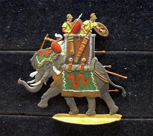 Zinnfigur Karthago Kriegselefant 30mm bemalt Gottstein Blum EB 293
