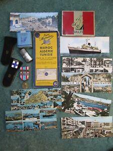 LOT ALGERIE CARTE 1956 + DIVERS